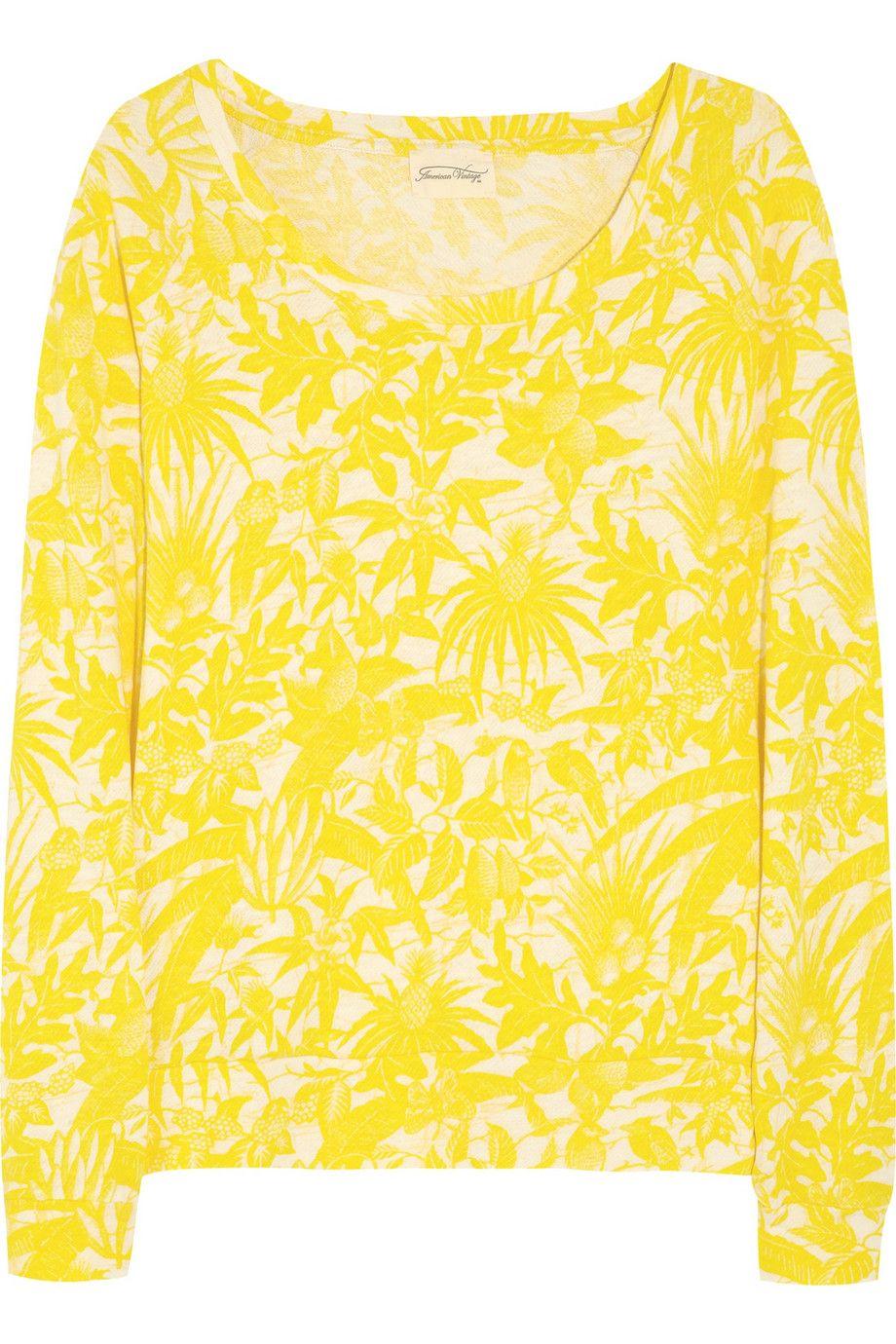 American VintageMusk printed cotton sweatshirt