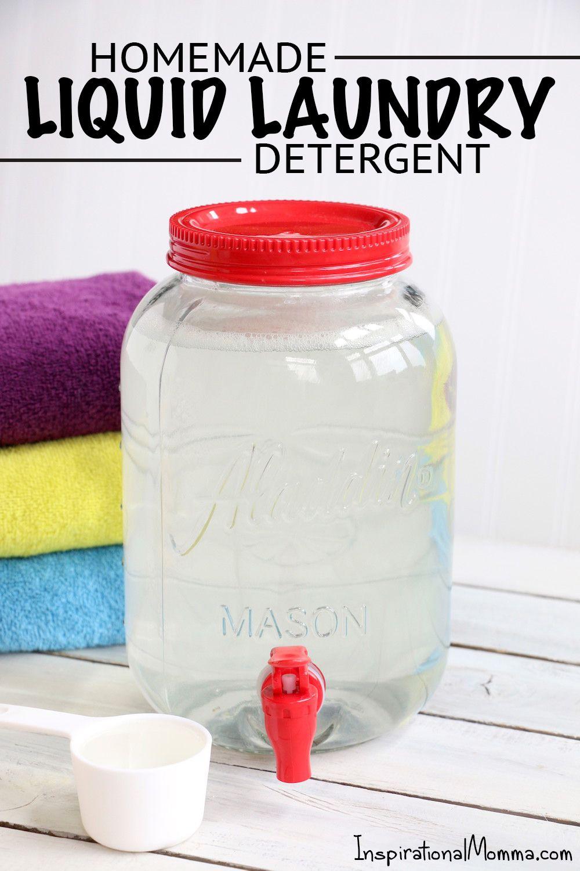 Homemade Liquid Laundry Detergent Laundry Detergent Homemade