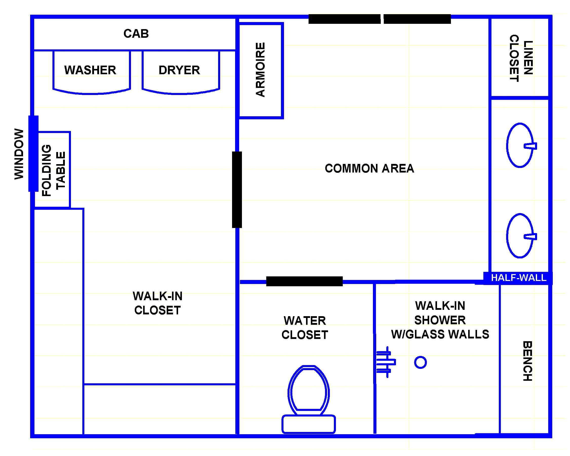 Modern master bathroom floor plans no tub design ideas bathroom