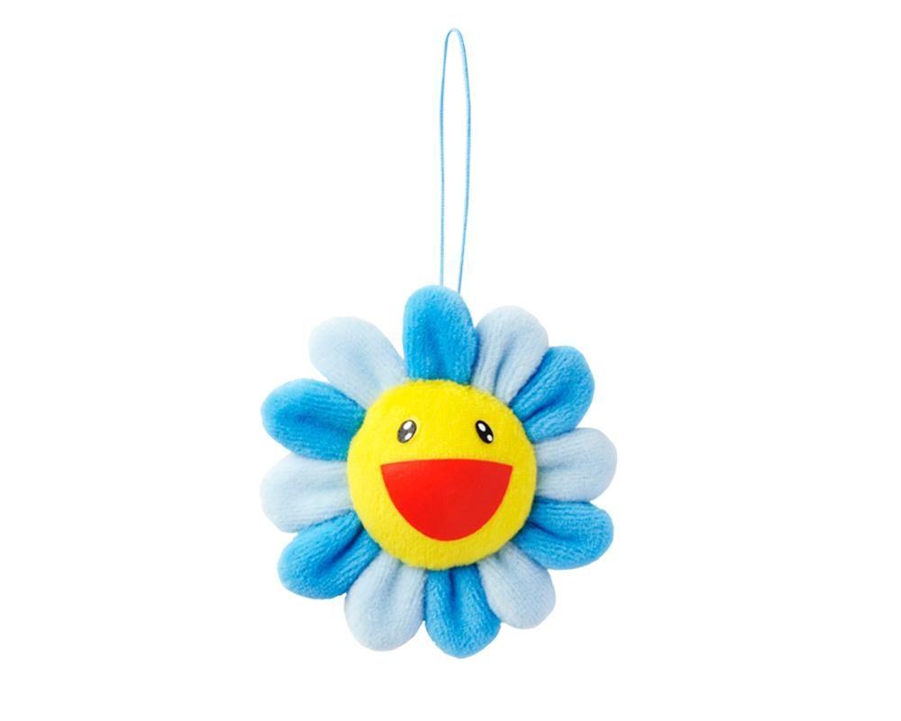 Murakami murakami flower plush key chain blue