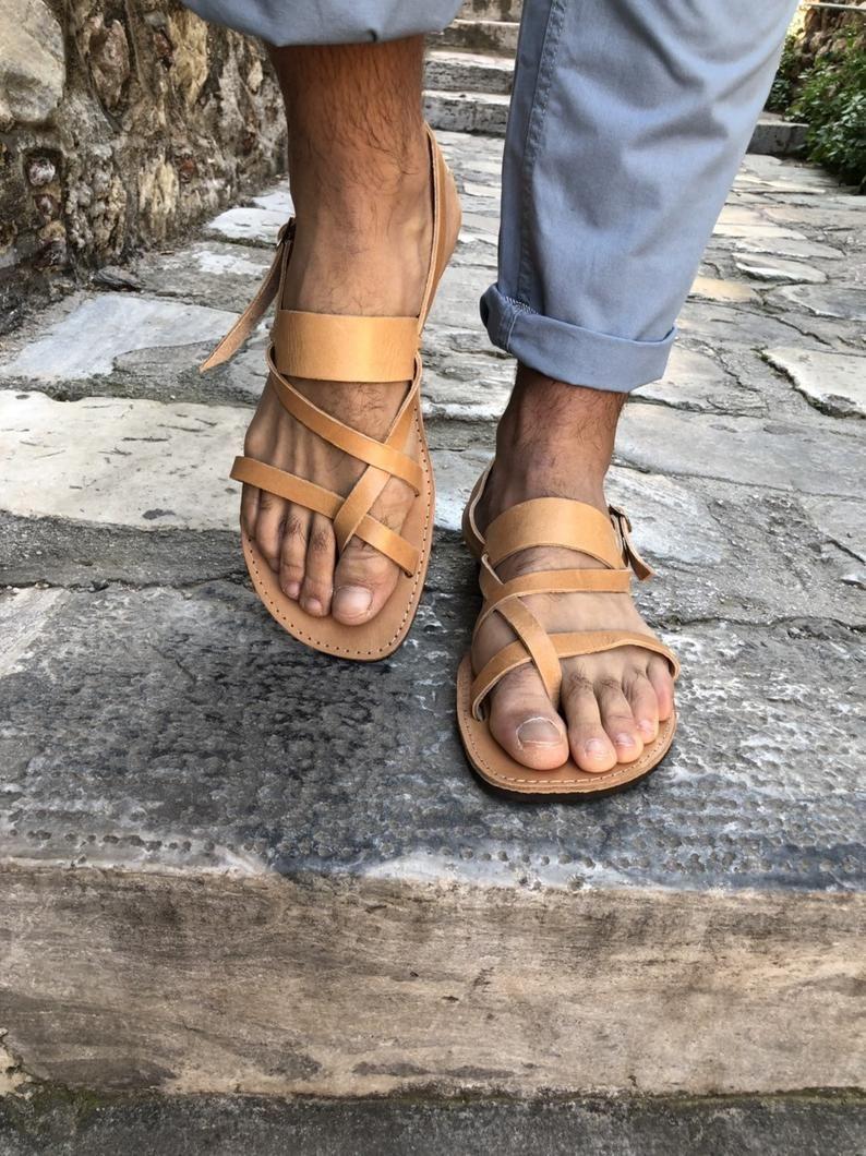 e048c1265939b Slingback Sandals, Mens Leather Sandals, Greek Sandals, Summer ...