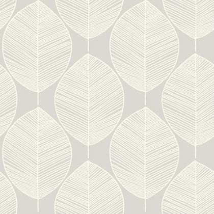 Arthouse retro leaf wallpaper silver at homebase be for Wallpaper homebase