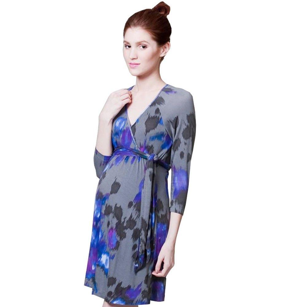 Pour deux watercolor wrap dress bellydancematernity pour deux watercolor wrap dress bellydancematernity wrapdress maternity style ombrellifo Choice Image