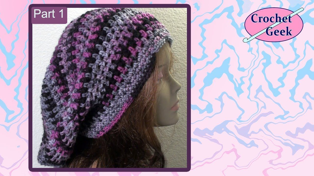 Bob Marley Crochet Slouch Cap Crochet Along Part 1 | Things I want ...