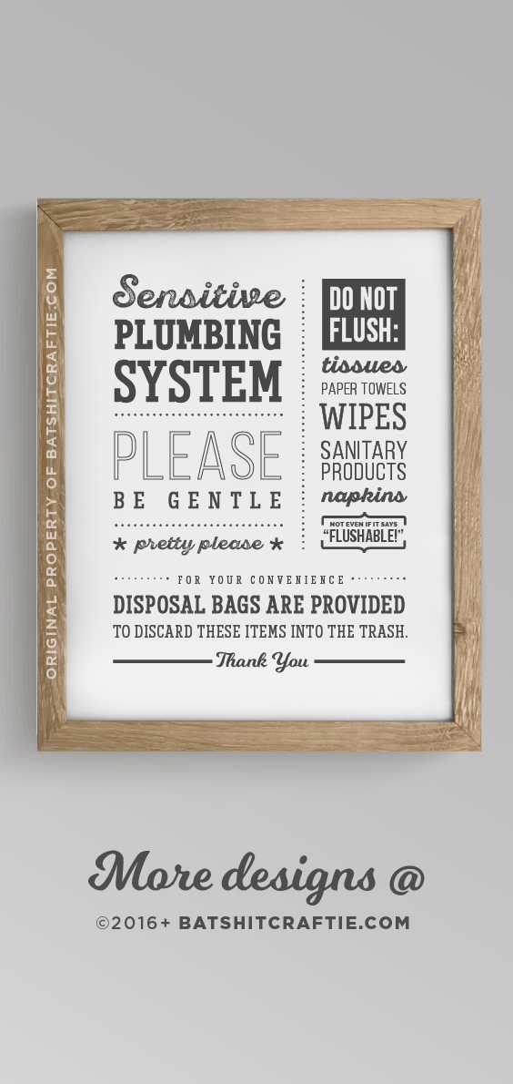 Septic Tank System Bathroom Sign Wall Art Prints Rustic Farmhouse Decor Signs Home Decor Com Home Garden