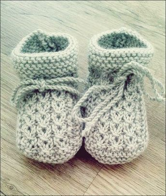 Photo of Knitting instructions Baby Booties #strickanleitungbaby Source: rest of wool or …