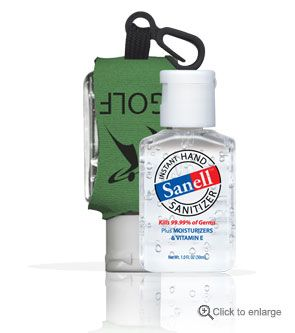 Sanell 1 Oz Hand Sanitizer With A Custom Leash Promotional Hand