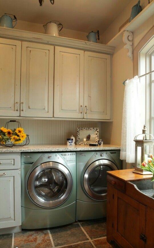 Pin de terri faucett en modern farmhouse pinterest cocinas for Lavaderos rusticos de casas