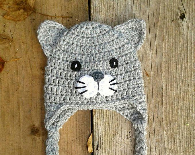 Crochet Cat Hat Baby Kitty Toddler Cat Hat Cat Hat Photo Prop Kitten Hat Beanie Kitten Hat Ba Crochet Cat Hat Crochet Baby Hats Crochet Headband Pattern