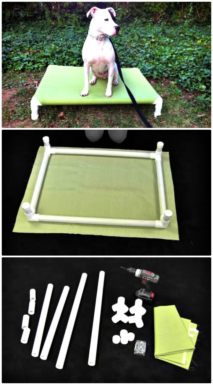 How To Make Pvc Elevated Dog Bed Tutorial Hunde Bett Diy Hundebox Hunde Spielzeug Diy