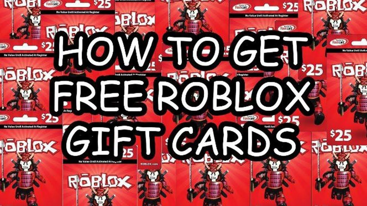 Free roblox gift card codes 2018 how to get free robux