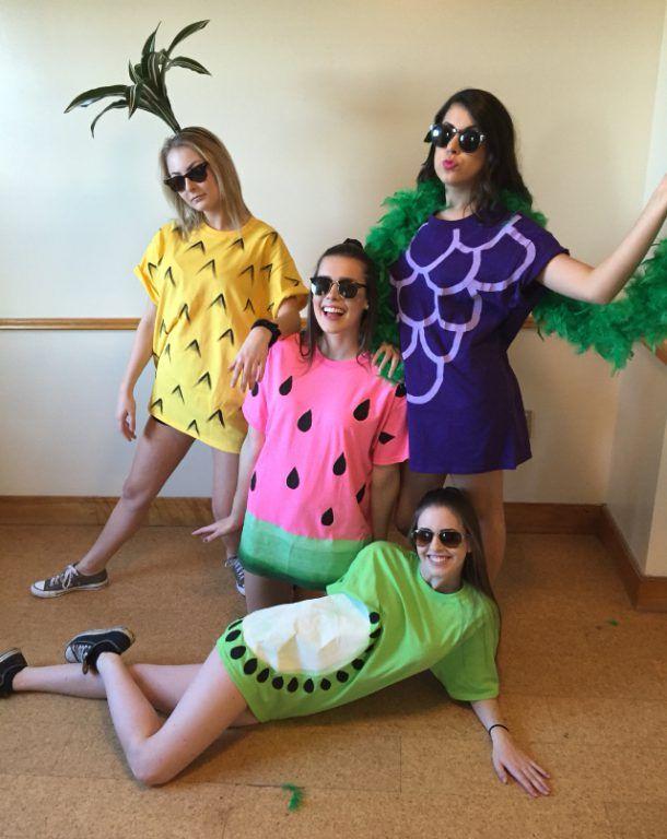 Ananas Kostüm selber machen Kostüm Idee zu Karneval, Halloween - halloween costume ideas for friends