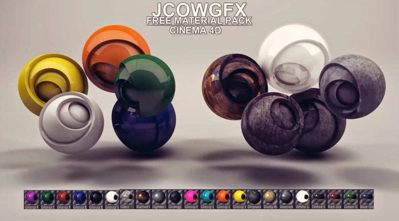 Download Free Cinema 4D Material Pack | CG Daily news | 3D
