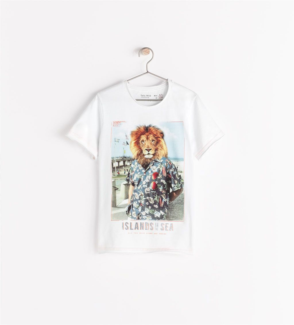 f01f3b8c LION T-SHIRT from Zara   For the Littles   Mens tops, T shirts for ...