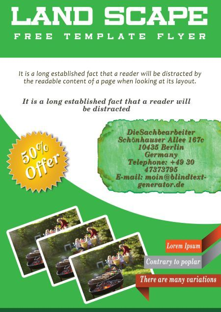 Landscaping Flyer Template 1 Landscaping Flyer Templates
