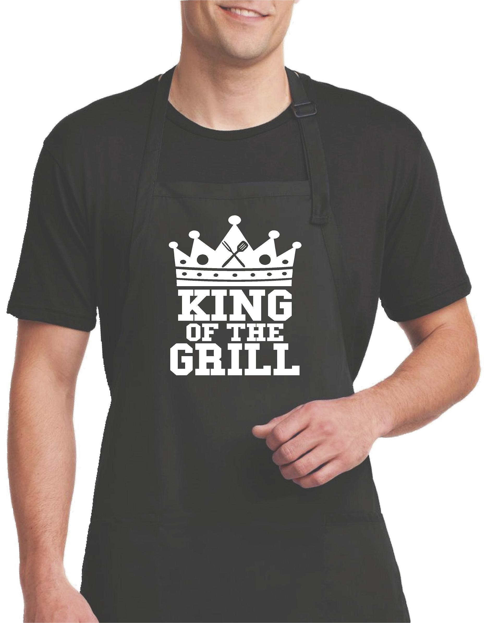 653d8c3b King of the Grill Barbecue Apron - Funny Apron For Men | DIY | Funny ...