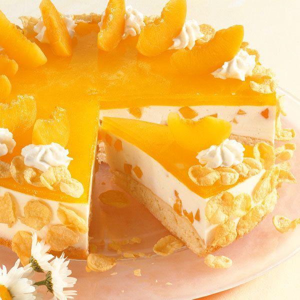 Pfirsich-Torte Rezept Pfirsich torte, Pfirsiche und Gast