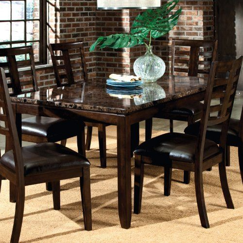Bella Dining Table In Deep Brown By Standard Furniture 291 90 Can Comfortably Seat Six Manufacturer Dining Table Dining Table In Kitchen Standard Furniture