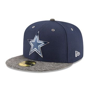 New Era Dallas Cowboys Navy Heathered Gray NFL Draft 59FIFTY Fitted Hat   cowboys  nfl  dallas f01621214