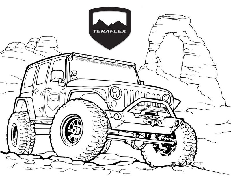 Best Jeep Teraflex Coloring Page In 2020 Jeep Art Jeep Drawing Jeep Images