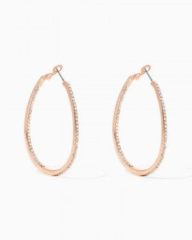 Rose Gold Hoop Earrings - Charming Charlie