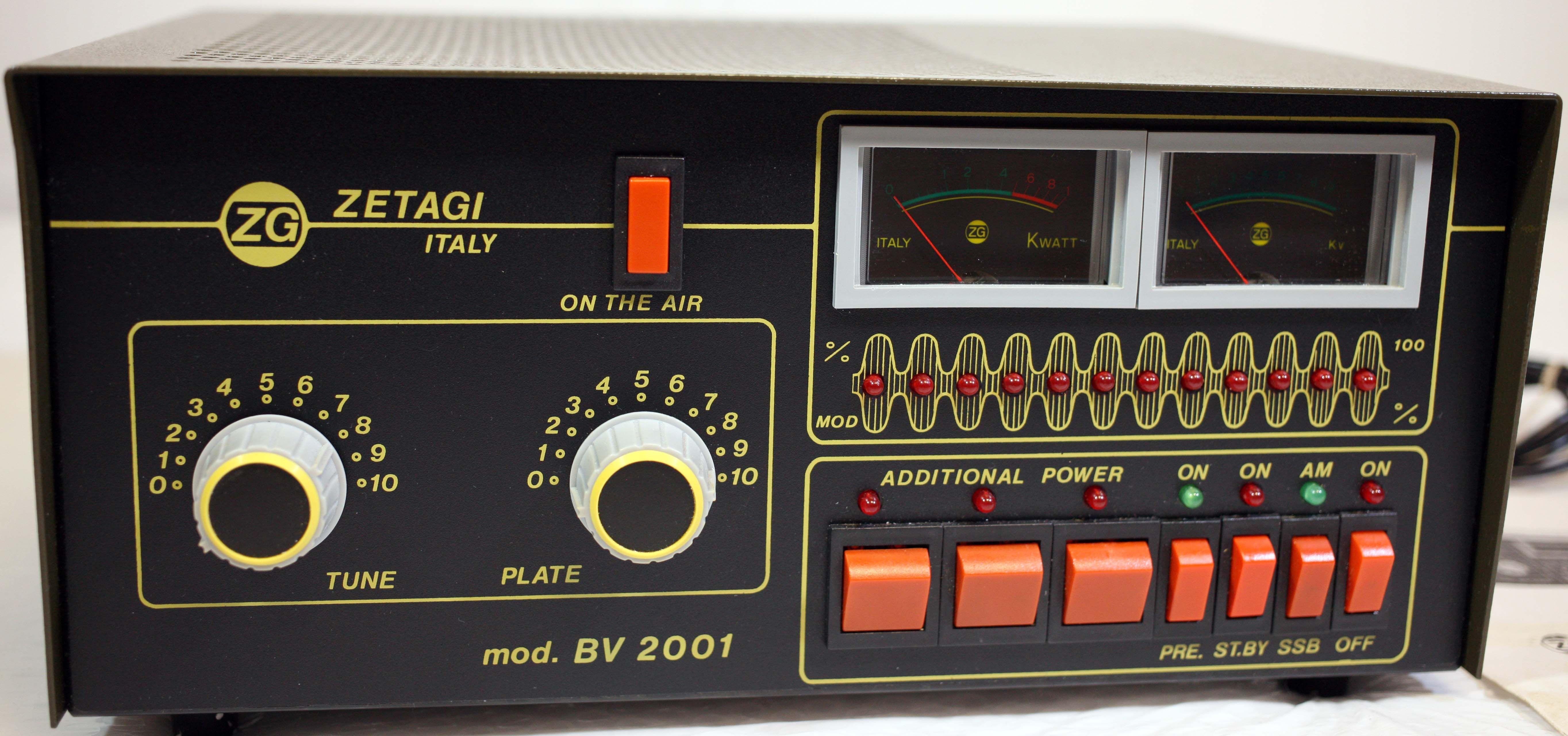 Zetagi Mod Bv 2001 Hf Linear Power Amplifier Power Amplifiers Amplifier Power
