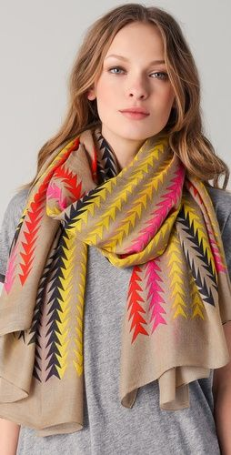 Marc by Marc Jacobs Arrowhead Scarf. I'm crazy in love with this print and the colors.