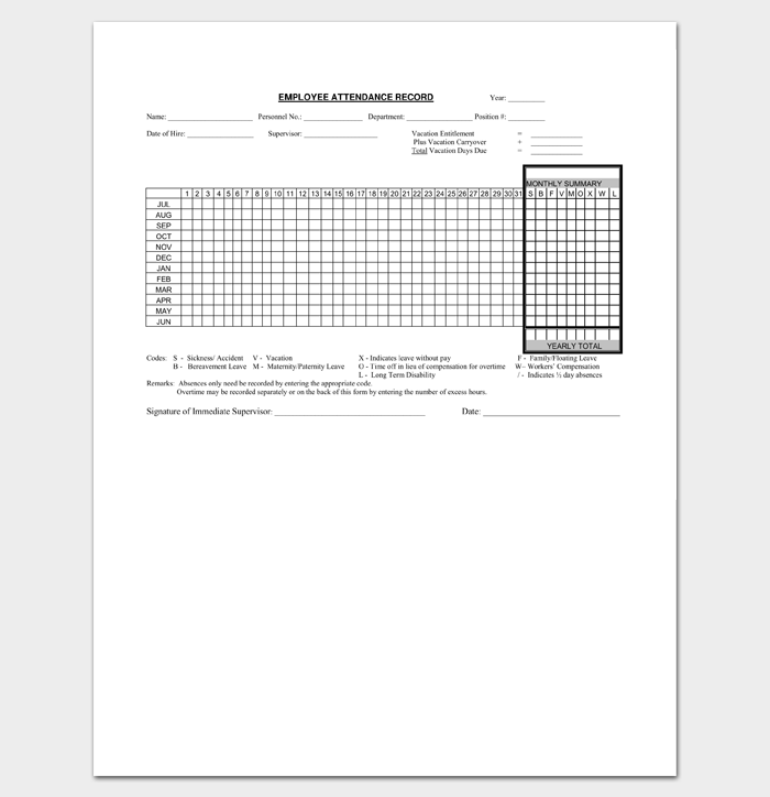 Employee Attendance Sheet  List Templates  Dotxes