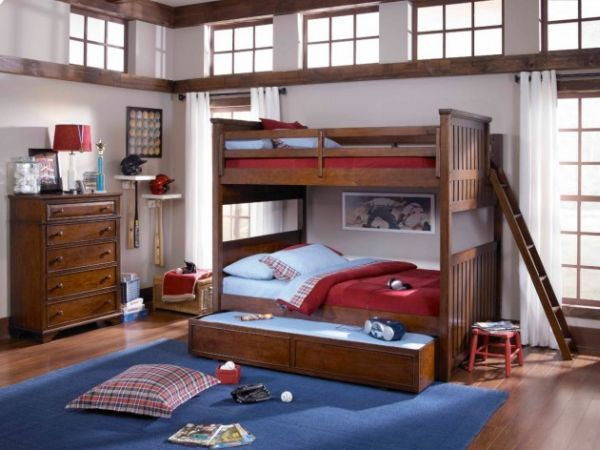 A Bunk Bed With Trundle Features Saves Up On Ample Space For The