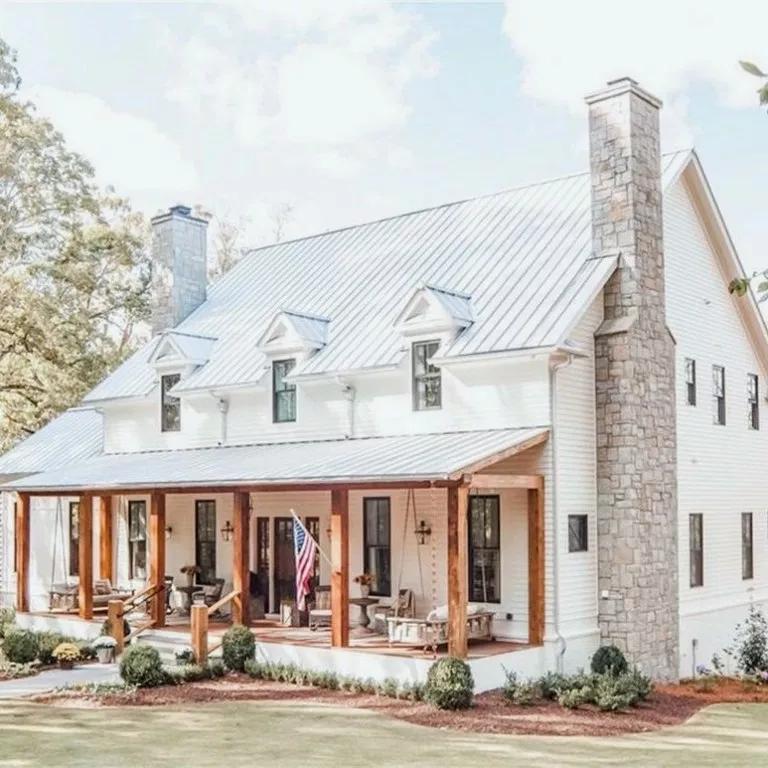28+ Incredible Modern Farmhouse Exterior Design Ideas #moderndreamhouse #dreamhousedesign #dreamhouseideas ~ Gorgeous House #housegoals