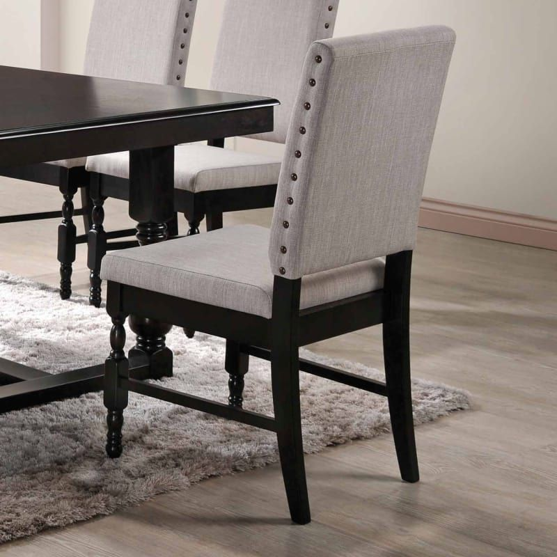 Home Source H 6032 Sc 18 Inch Wide Wood Framed Fabric Dining Chair