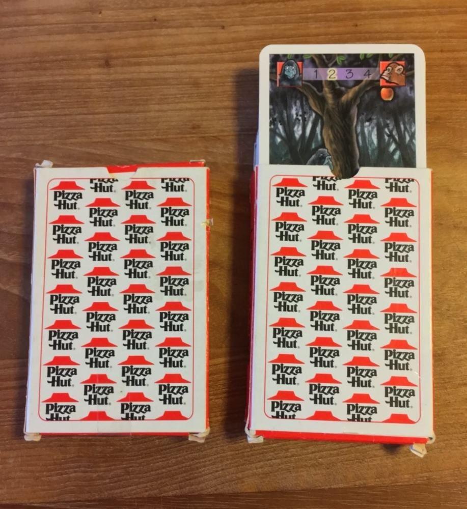 2 Sets Vintage Belgium Pizza Hut Playing Cards Quartoons