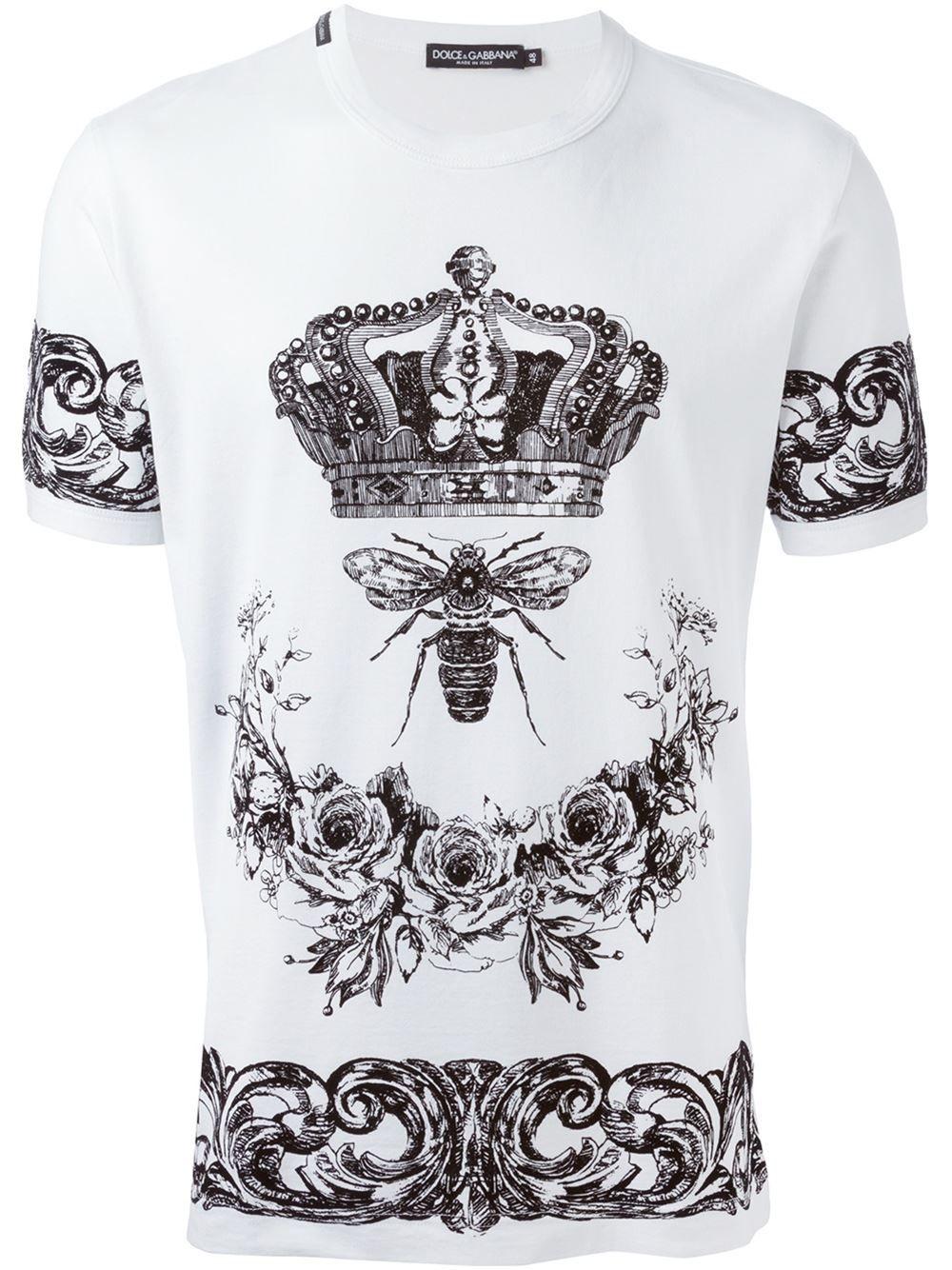 d8e29b1c0 Dolce & Gabbana Camiseta Com Estampa - Parisi - Farfetch.com ...
