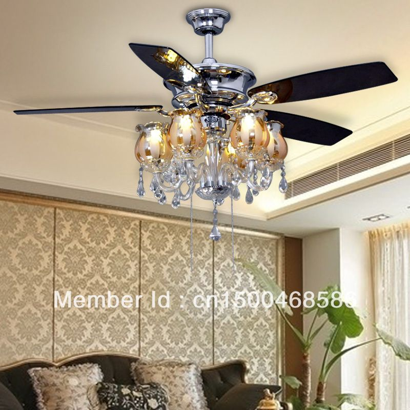 European Chandeliers Fan Ceiling Fan Light Minimalist Modern 52 Inch Ceiling Fan Chandelier Chandelier Fan Ceiling Fan