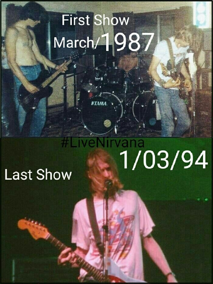 First Show and Last Show of #NIRVANA