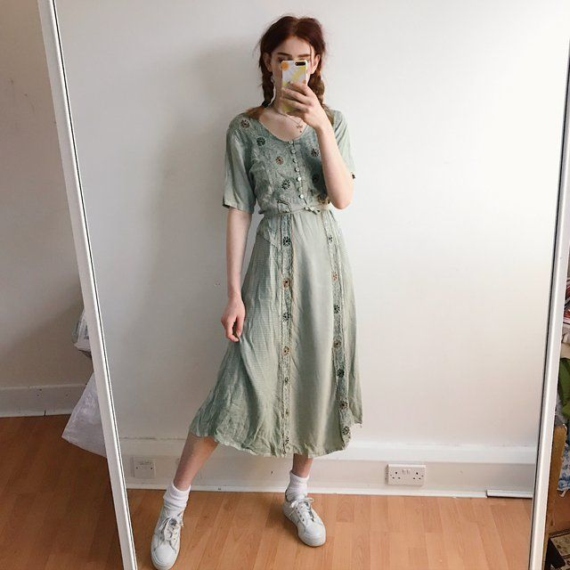 Pretty pretty pistachio green vintage fairy dress,... - Depop -   17 dress Green vintage ideas