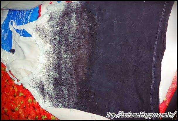 Lari Koze: DIY - Como tingir roupas em degrade com pó de tinta