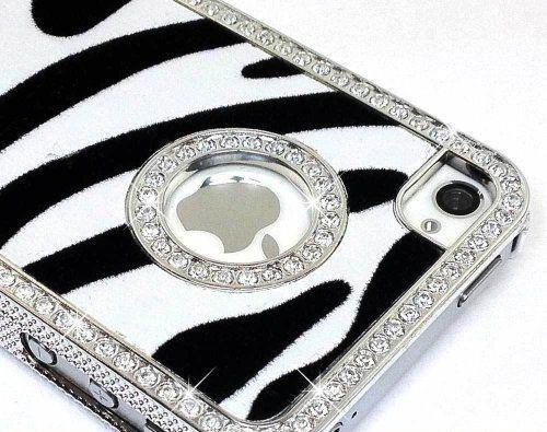 LiViTech(TM) Zebra Design Series Diamond Rhinestone Crystal Bling Silver Case for Apple iPhone 5   -ordering as we type