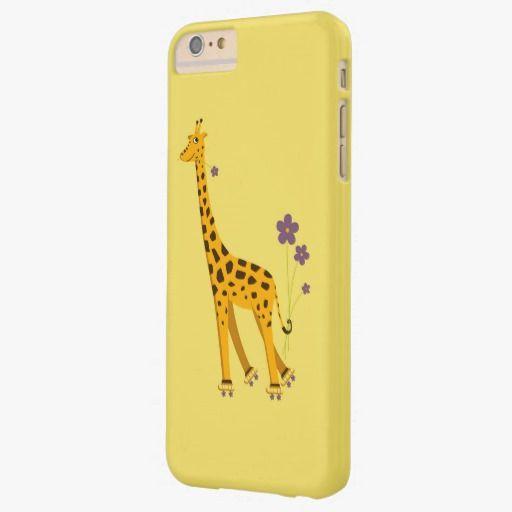 iPhone 6 Plus Cases | Yellow Roller Skating Funny Cartoon Giraffe