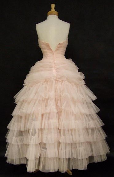 Prom Queen Pink Tulle Strapless 1950's Ball Gown VINTAGEOUS VINTAGE CLOTHING