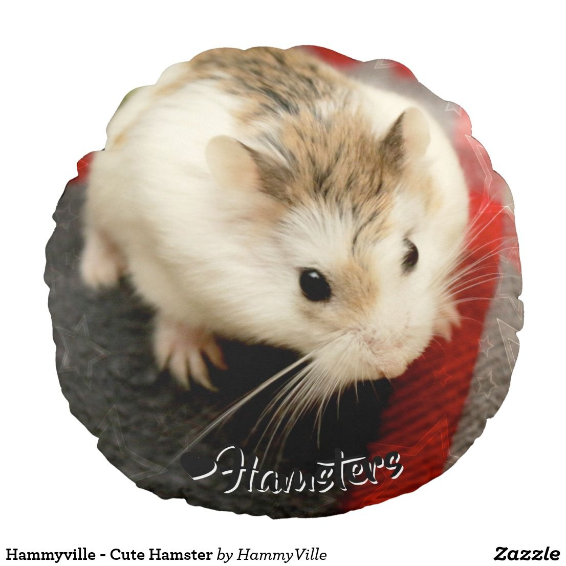 Hammyville Cute Hamster Round Pillow Hammyville Hamster Personalized Personalizedgifts Cuteanimals Shopping Gifts Gif Cute Hamsters Cute Cute Animals