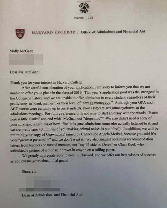 11 Insane Things Real People Did To Get Into College Real people - college acceptance letters