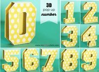 3D Pop Up Numbers