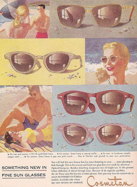 Vintage Cosmetan Sunglasses Ad 1952
