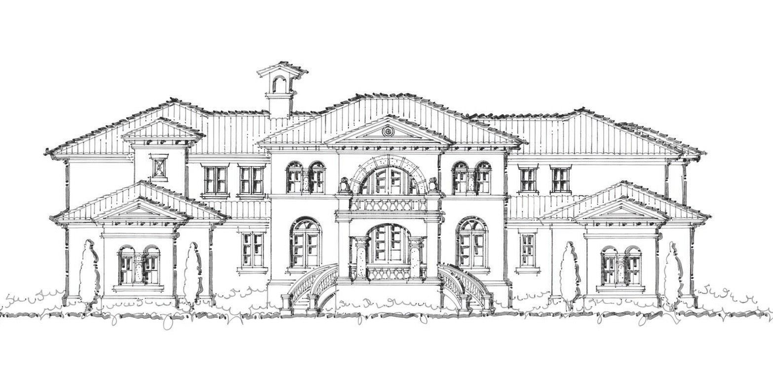 A Sater custom home design for a project in Lake Pontchartrain, LA ...