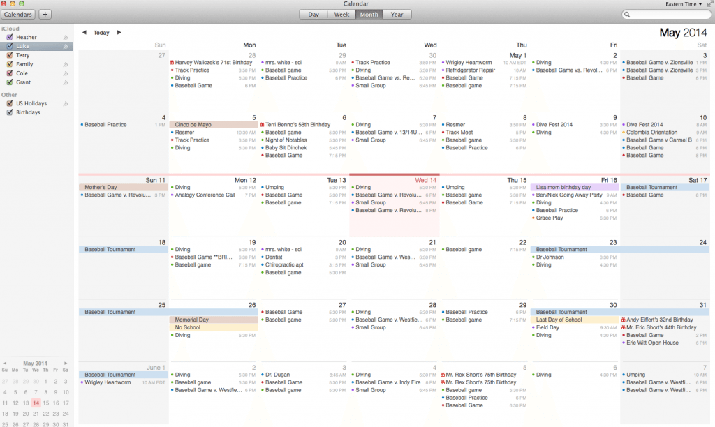 Organized Life with Calendar Sharing Calendar sharing