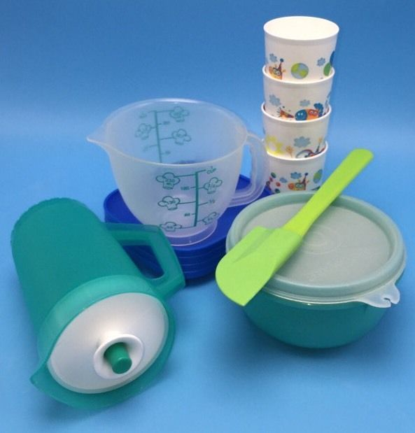 Tupperware tuppertoys mini mix it and party dishes age 3 boys girls ebay