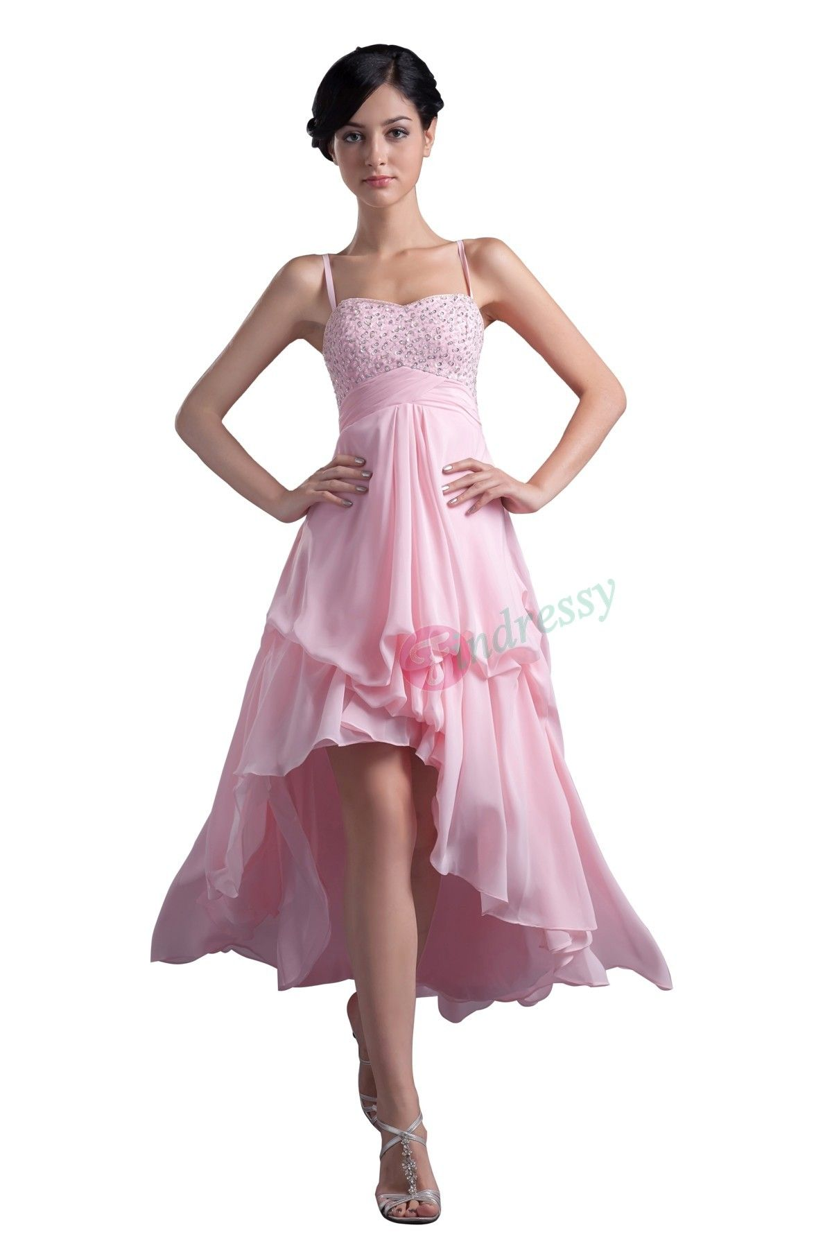 High low wedding dresses cheap  Buy cheap fashion Discount Stunning Highlow Sexy Long Pink prom