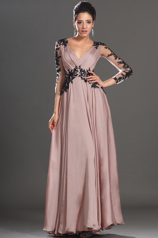 Vintage Lace Chiffon Women Long Maxi Evening Cocktail Party Gown ...