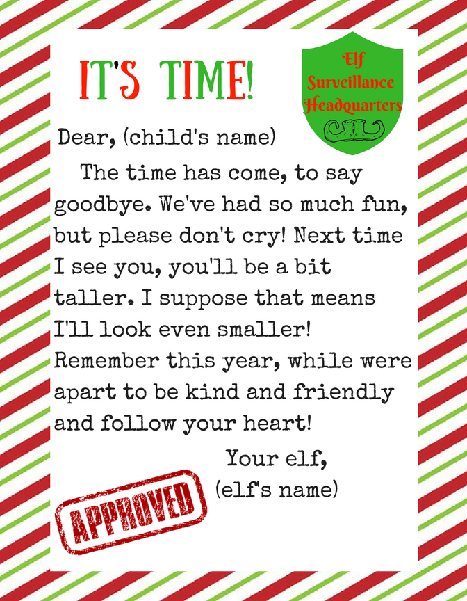 picture about Letters From Elf on the Shelf Printable referred to as Location this letter out upon Xmas Eve for your elf upon the